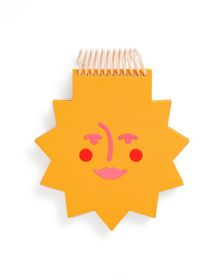 Die-cut sun shaped notepad with chipboard cover