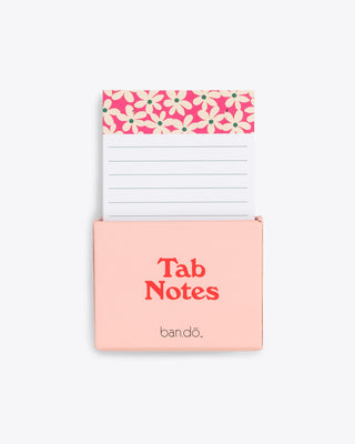 take note tab notes featuring a daisy pattern at top