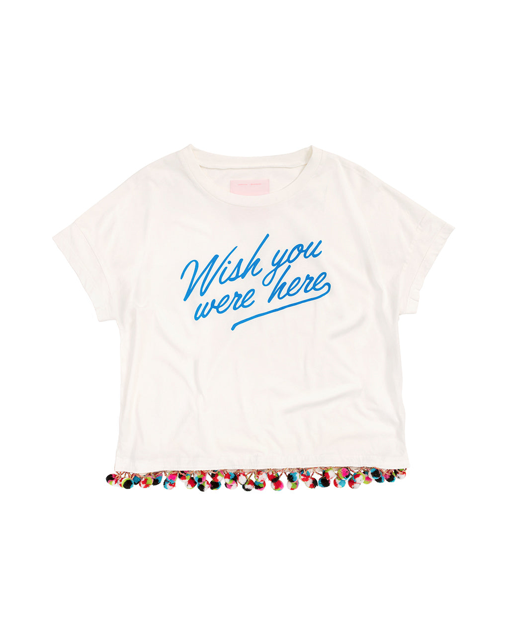 Wish You Were Here Pom Pom Tee