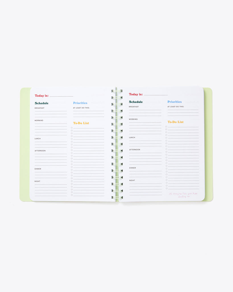 interior image of daily planner sheets