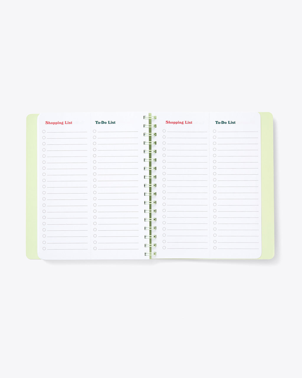 interior image of to do list and shopping list page