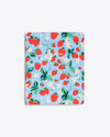 daily planner cover in blue Strawberry floral pattern