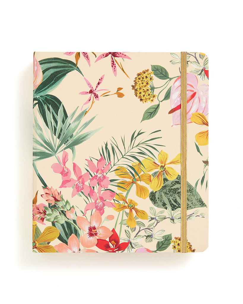 This travel planner comes in a colorful floral pattern.