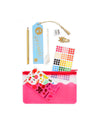 This Ultimate Planner Pack features a number of fun accessories in a translucent pink zipper pouch.