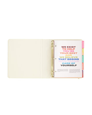 Hardcover 3ring binder wellness planner
