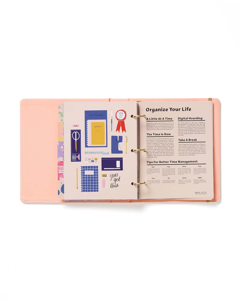 interior page: organizational tips