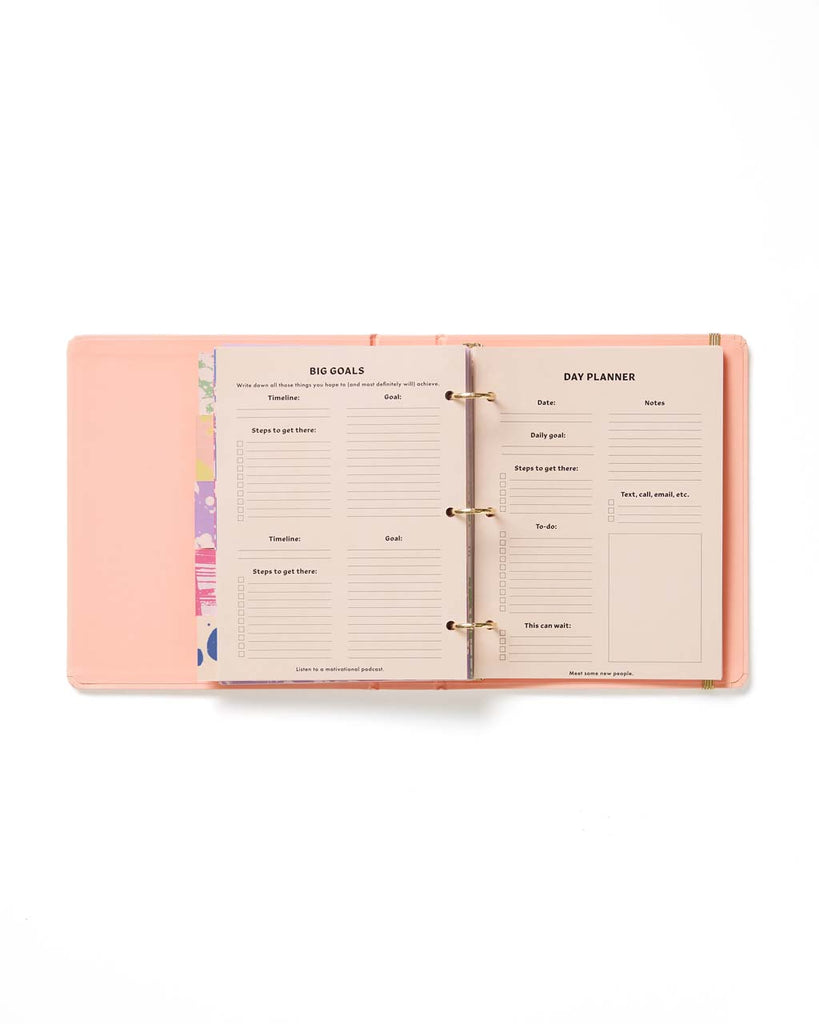 interior pages with goal planner and day planner