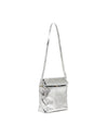 What's For Lunch? Crossbody Bag - Metallic Silver