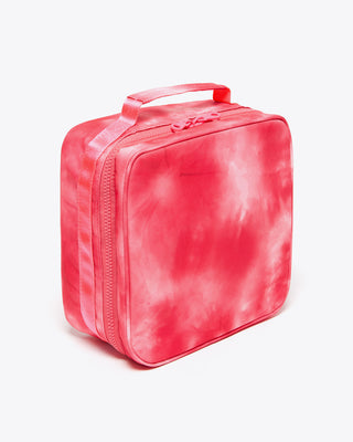 hot pink tie dye square lunch bag