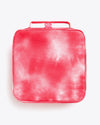 hot pink tie dye lunch bag with double zippers