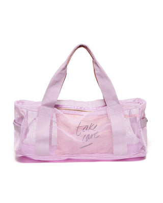 Work It Out Mesh Gym Bag - Take Care ... 2d6ae3933f066