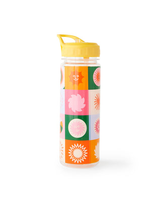 Infused acrylic water bottle with bright surface design