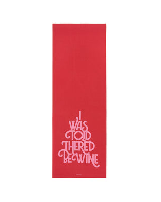 work it out exercise mat - wine