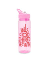 work it out water bottle - wine