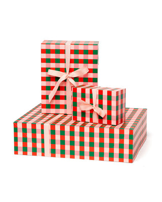 Buffalo plaid gift box set.