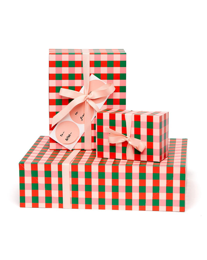 3 gift boxes and 3 sticker gift tags.