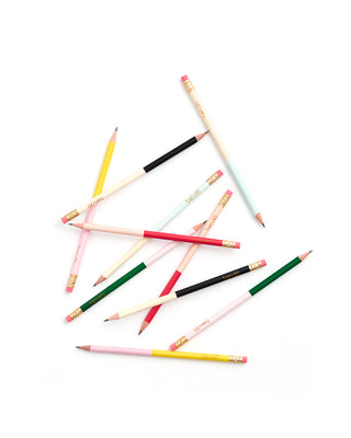 write on pencil set - color block