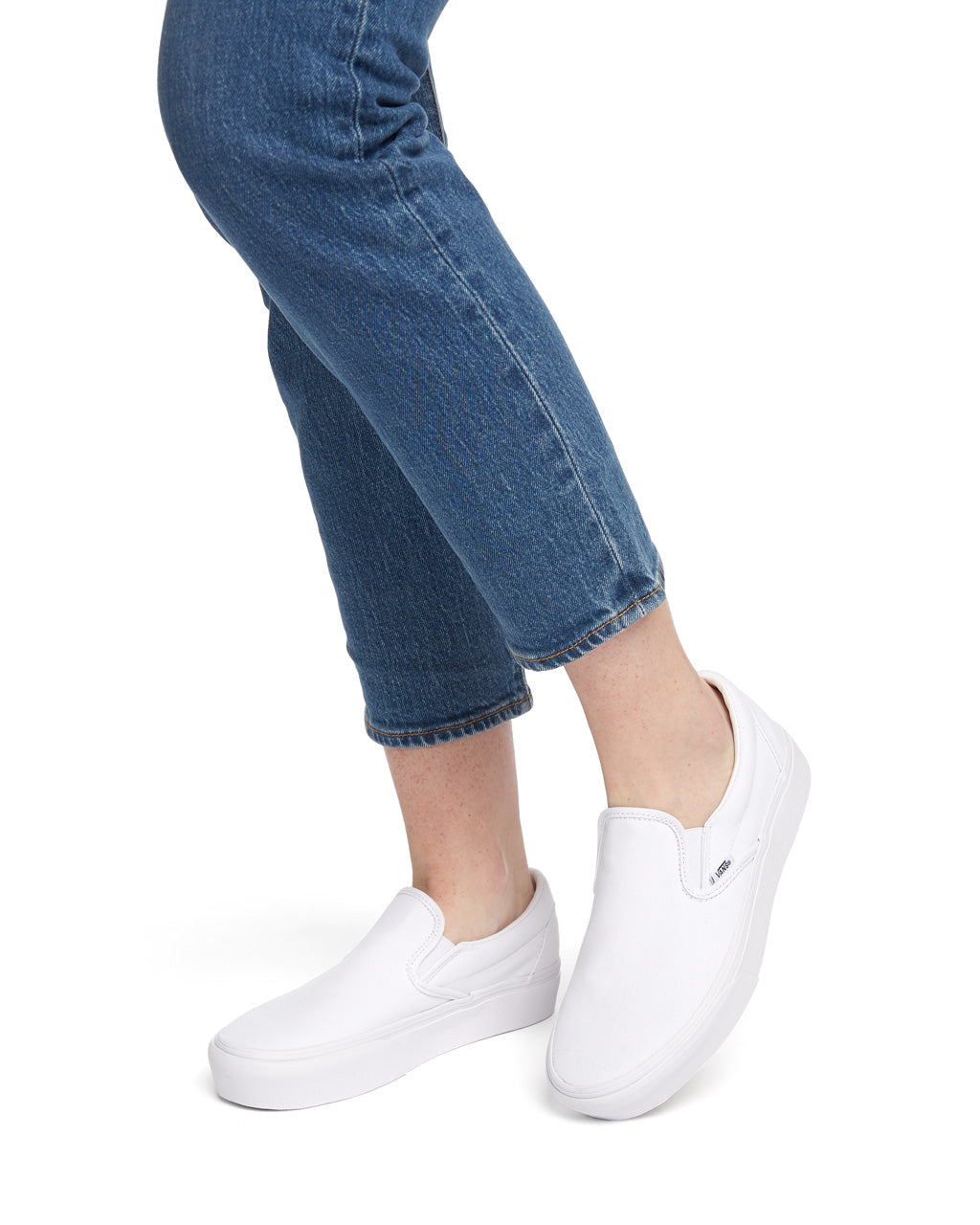 Classic Slip-On Platform - True White