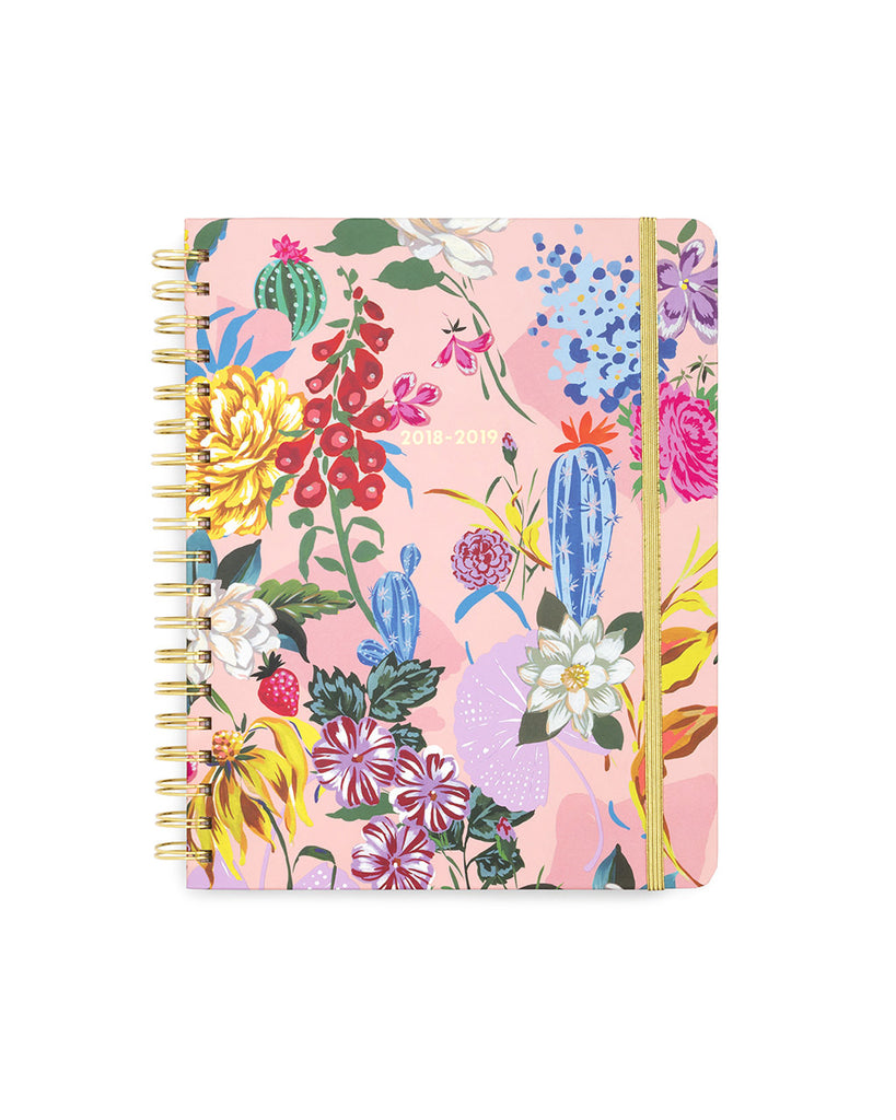 large 13-month planner - garden party