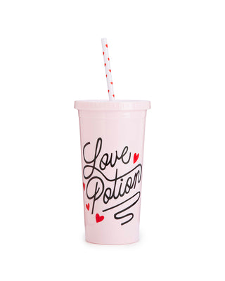 sip sip tumbler with straw - love potion