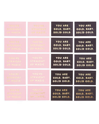 compliment card set - you are gold/you're straight up magic