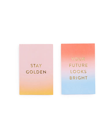compliment card set - your future looks bright/stay golden