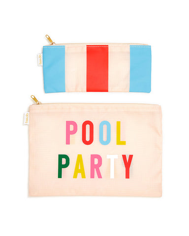 carryall duo - pool party + national stripe
