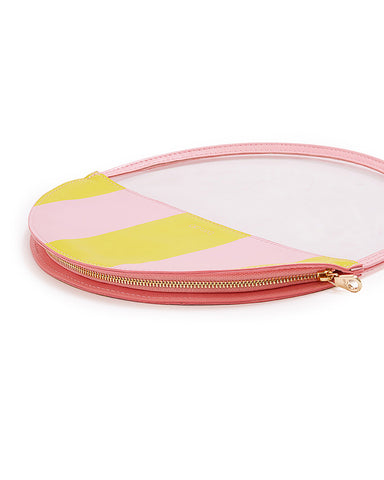 peekaboo circle clutch - beverly stripe