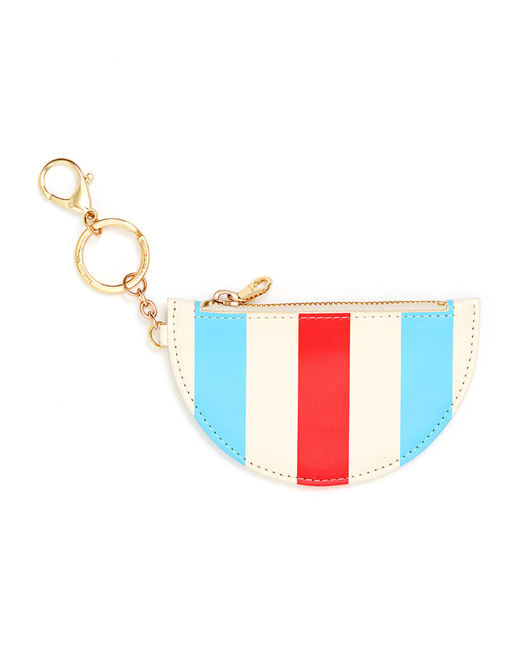 zip zip keychain with pouch - national stripe