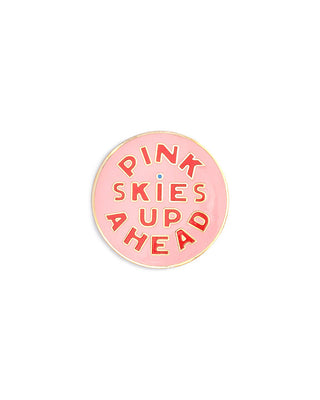 enamel pin - pink skies up ahead