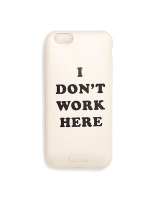 leatherette iphone 6/6s case - i don't work here