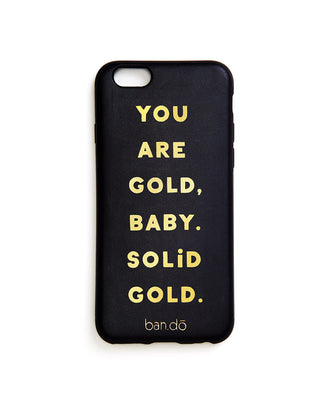leatherette iphone 6/6s case - you are gold
