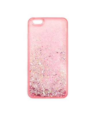 glitter bomb iphone 6/6s plus case - pink stardust