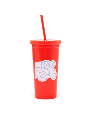 sip sip tumbler with straw - free refills