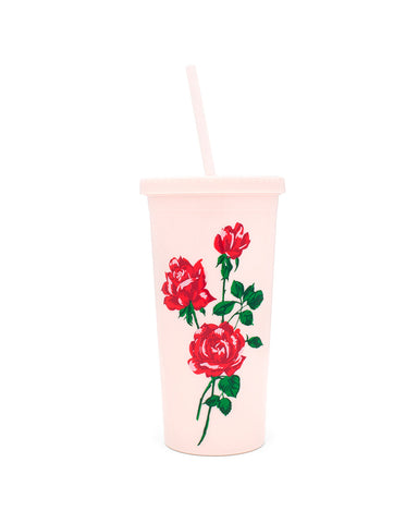 sip sip tumbler with straw - will you accept this rose?
