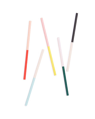 sip sip straw set - color block