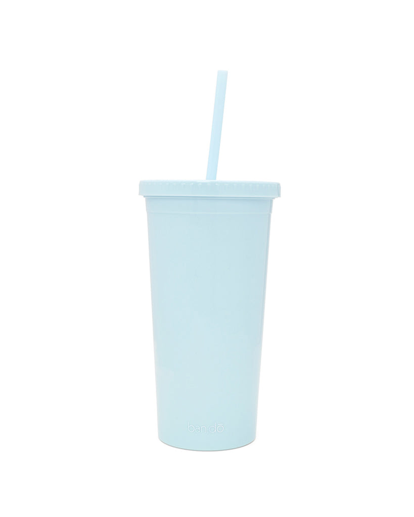 plain light blue back up sip sip with straw