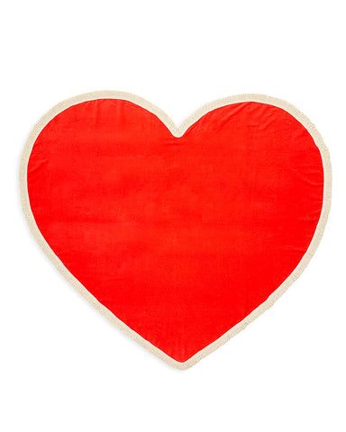 all around giant heart towel - sweetheart