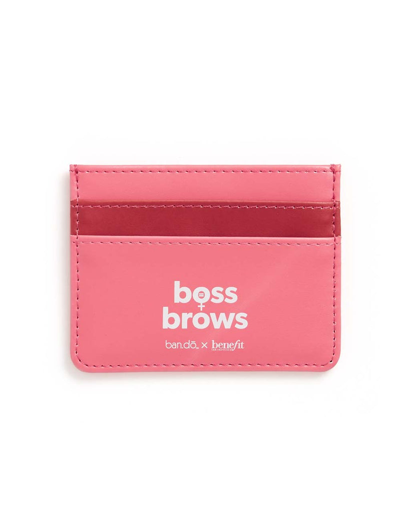 Features two card holders and a 'Boss Brows' logo on the back.