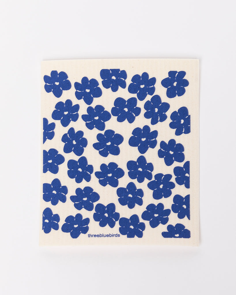 blue poppy dishcloth