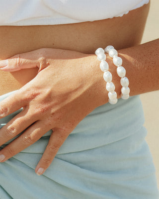 model shown wearing bon bon bracelet
