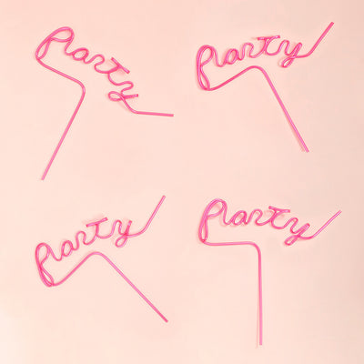 Bundle - Pink Party Straw 4 Pack