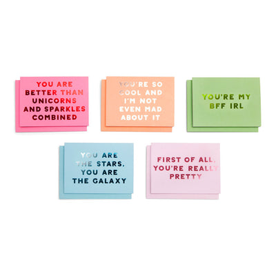 Card - Compliment Greeting Card Set - Assorted