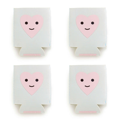 Drink Sleeve - 4 Pack - Too Cold To Hold Drink Sleeve - Herbie The Happy Heart