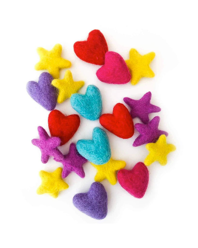 heart and star shaped fabric fresheners