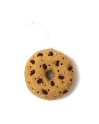 everything bagel felt ornament