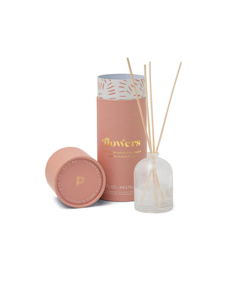 petite diffuser with a pink cylinder packaging