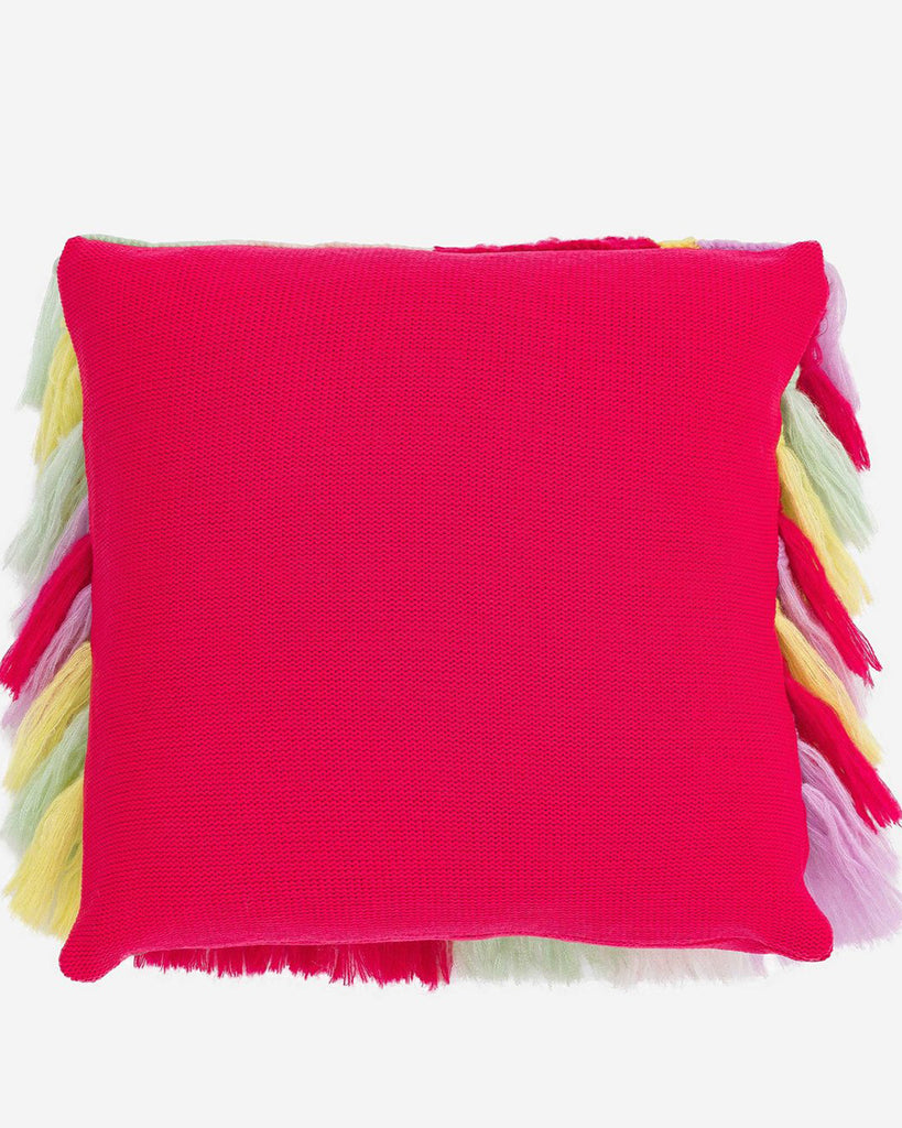 magenta colored back of pillow cover