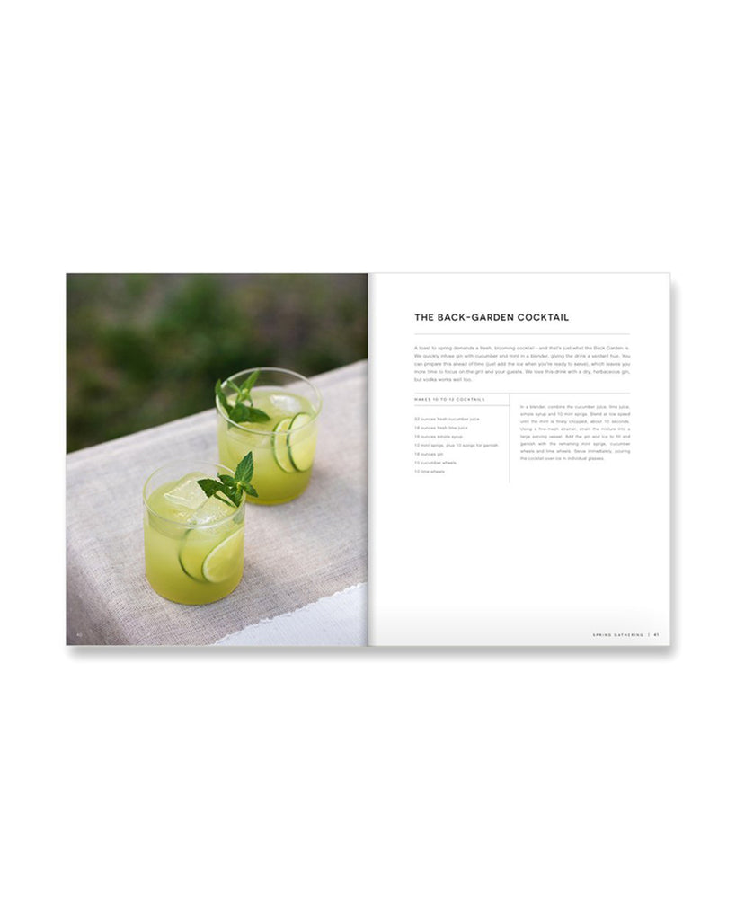 interior pages of host book featuring a cocktail recipe