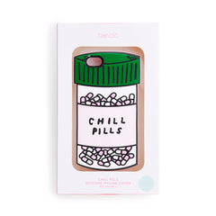 chill pills silicone iPhone case - package - front